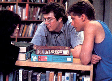 John Hughes directing 'The Breakfast Club'